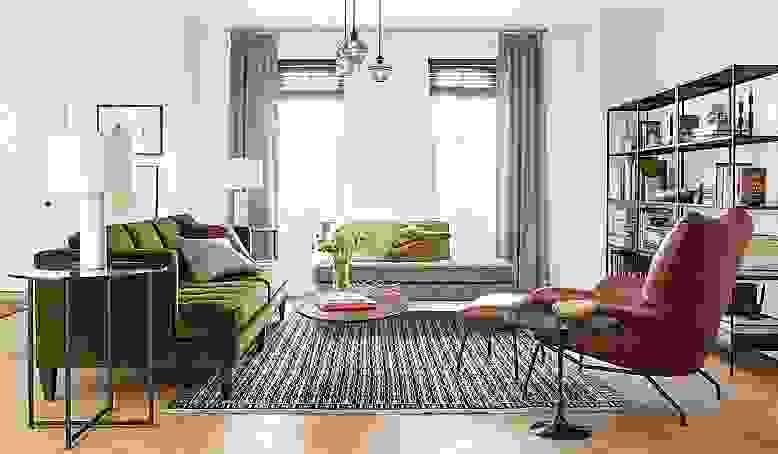 Hutton sofa in midcentury modern living room