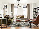 Hutton Sofa in Vance Olive Fabric