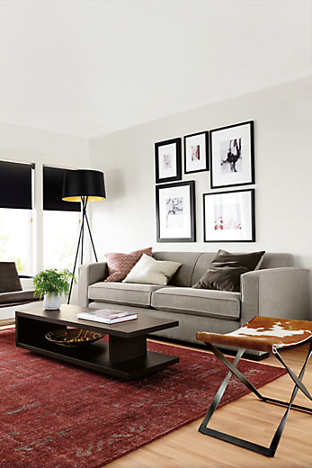 Living room with Ian sofa in total linen