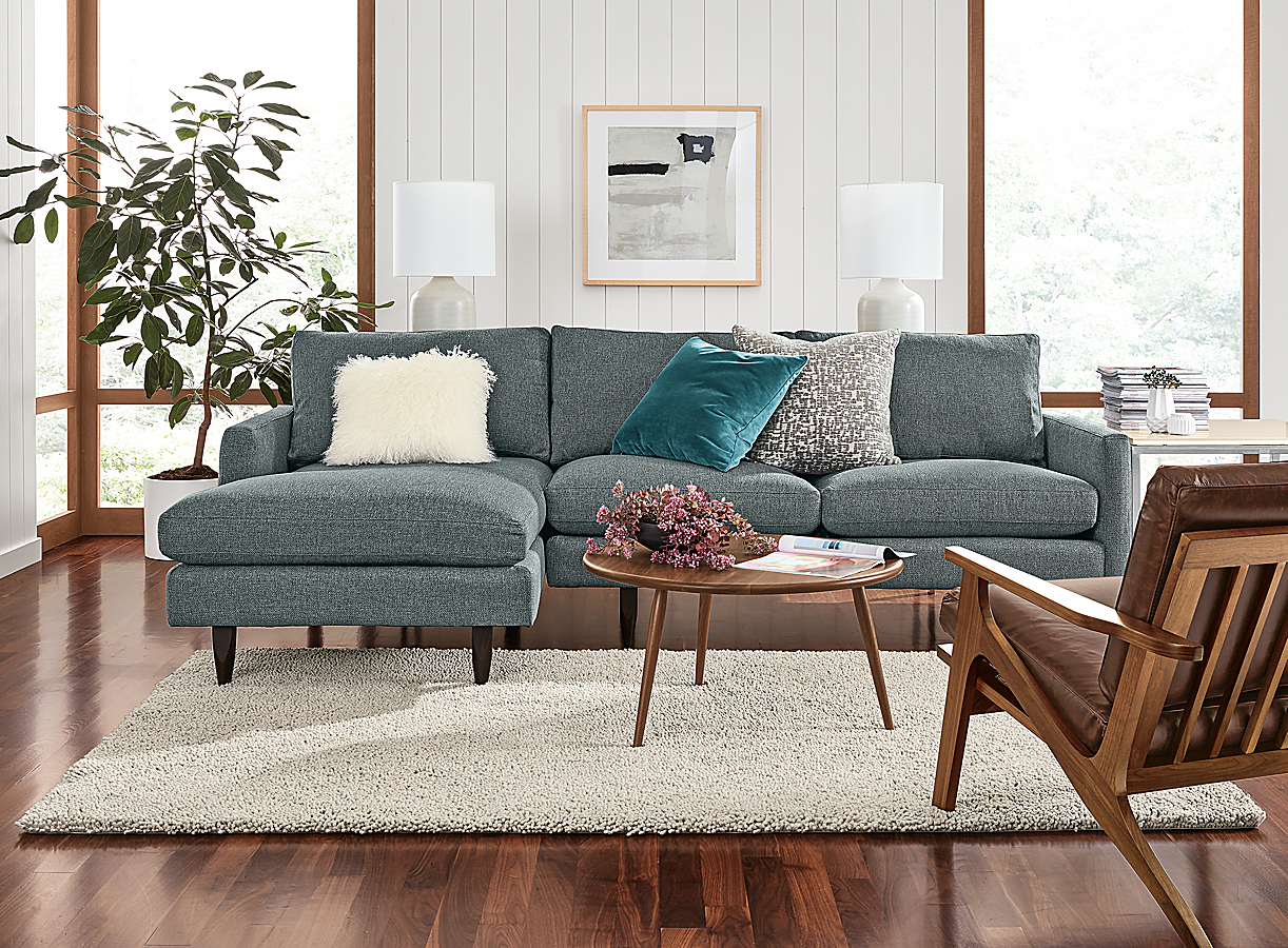 Jasper Sofa with Chaise in Tepic Haze