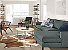 Detail of Jasper sofa in small living room