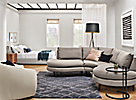 Jasper Curved Sectional in Small Space