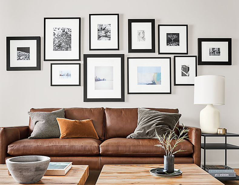 Living room with Profile frame in black