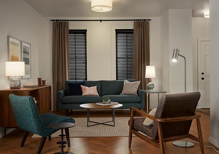 Jasper 86-inch sofa in Haze fabric