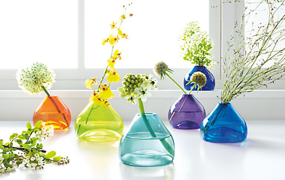 Hand-blown Jewel Bud Vases