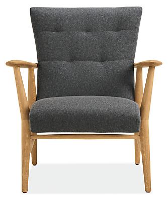 Silhouette detail of Jonas lounge chair