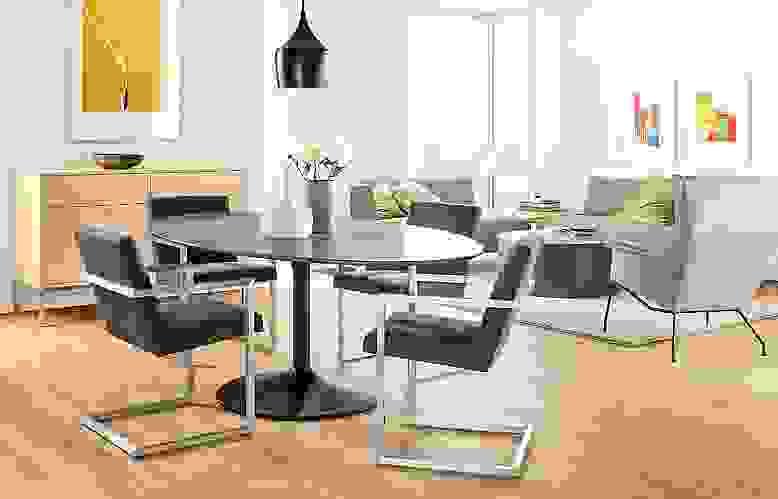Detail of Julian 78w oval dinin table