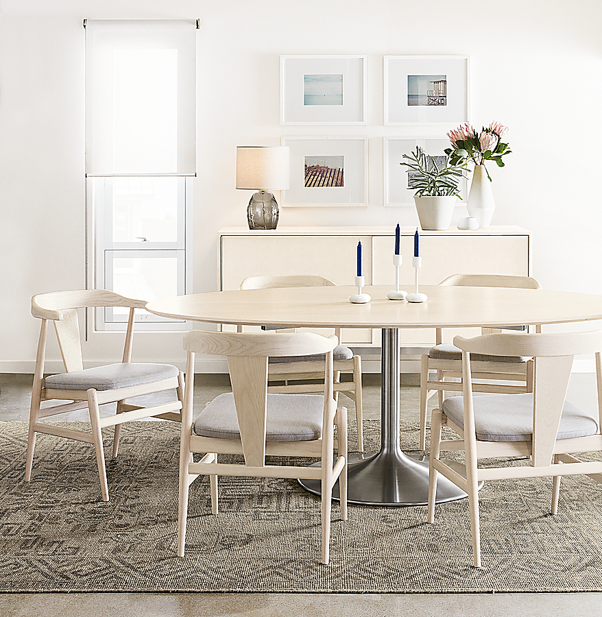 Julian Table in Sand and Evan Chairs
