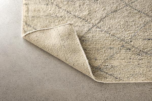 Detail of Kalindi 6x9 ivory grey rug