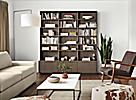 Keaton Bookcases in Bark Living Room
