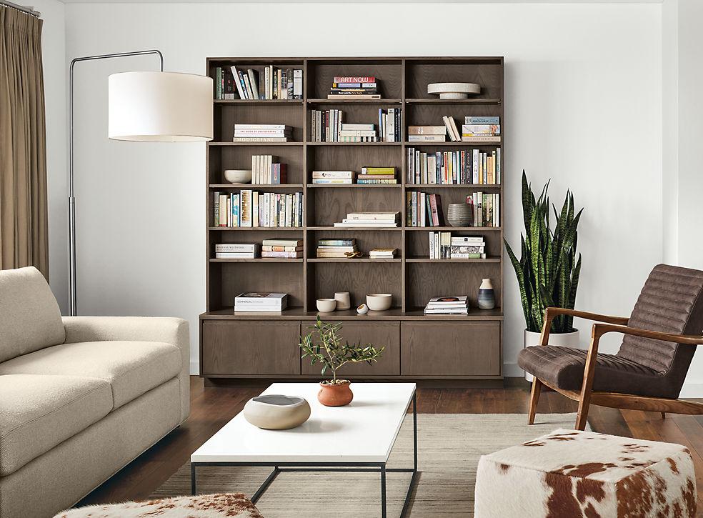 Keaton Custom Bookcase Living Room Storage