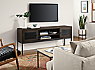 Linear Media Cabinet in Charcoal