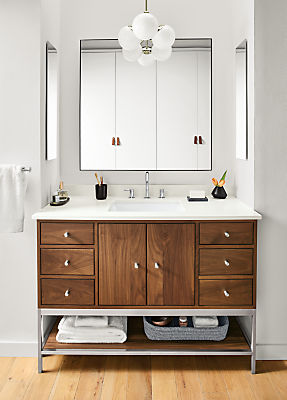 Linear Bathroom Vanity Cabinets With Shelf And Top Modern Bathroom Vanities Modern Bath Furniture Room Board