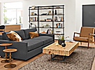 Beam Bookcase Wall Unit in Charcoal