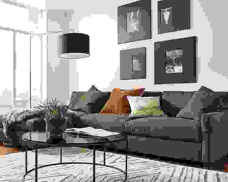 """Linger 116"""" Sofa with Left-Arm Chaise"""