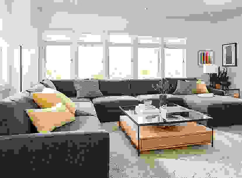 Linger Sectional in Charcoal