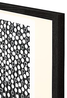 Corner black frame detail of Liola artwork