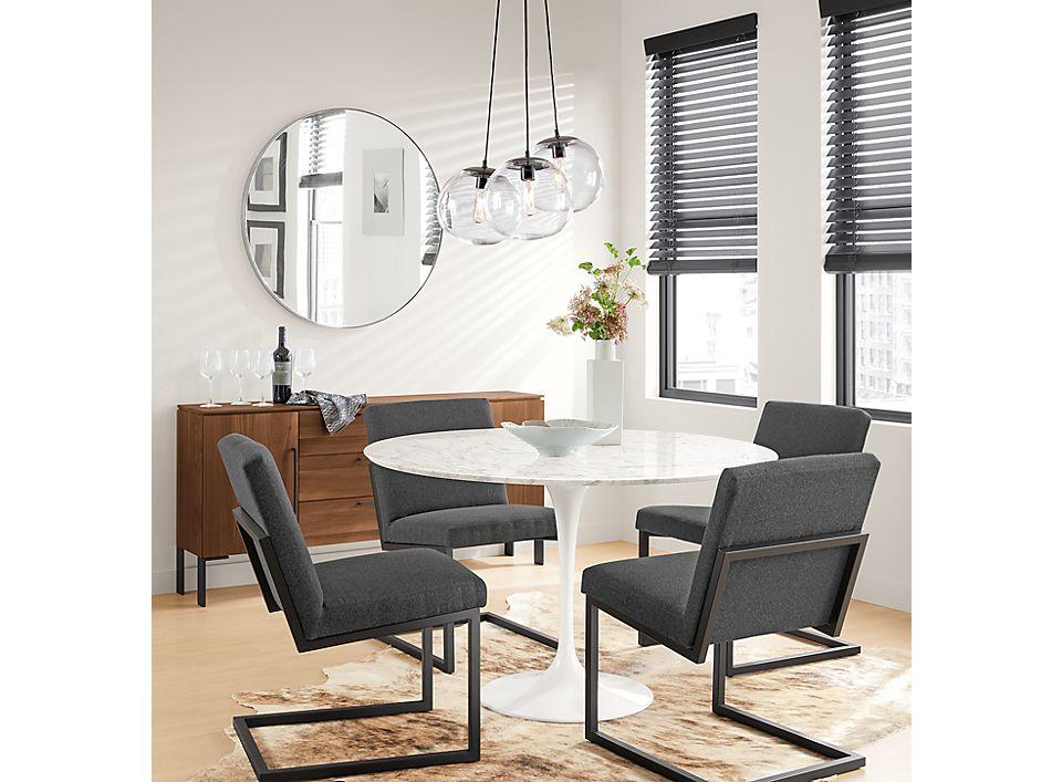 Small Dining Area Saarinen Table Lira Chairs Room Board
