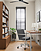 Lira Office Chair with Parsons Desk