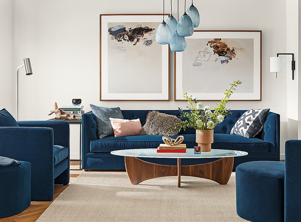 Macalester Sofa & Accent Chairs in Banks Denim