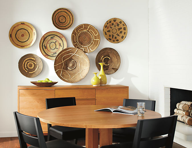 Dining room with Makenge Winnowing basket in natural