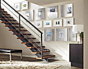 Stairway with Stainless Steel Frame Wall Collage