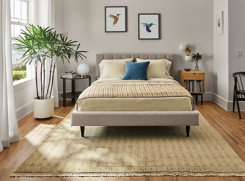Hartley Bed in Flint Ivory Fabric