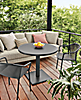 Maris Table & Theo Chairs with Palm Sofa