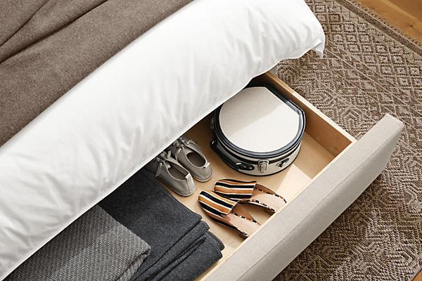 Marlo storage bed drawer extended