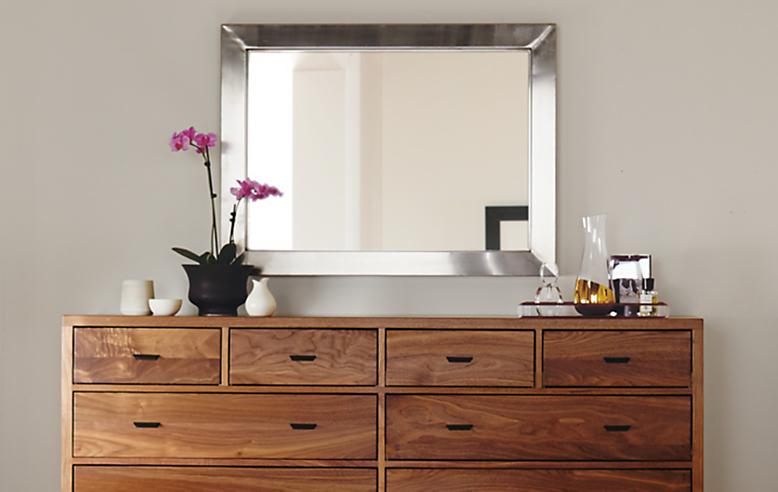Bedroom with Berkeley dresser in walnut