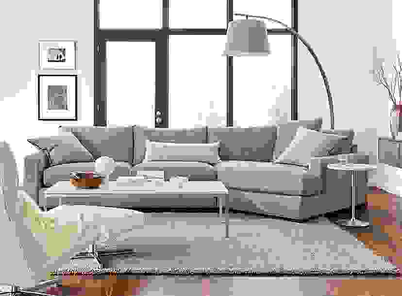 """Metro 149"""" Sofa with Right-Arm Angled Chaise"""