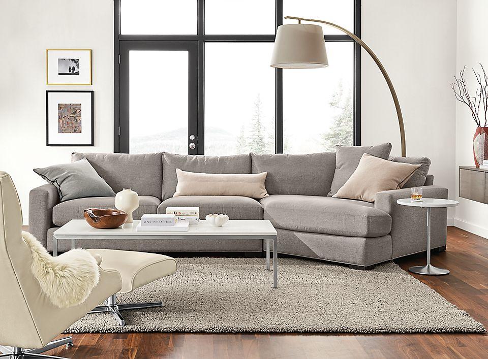 metro deep sofa with angled chaise