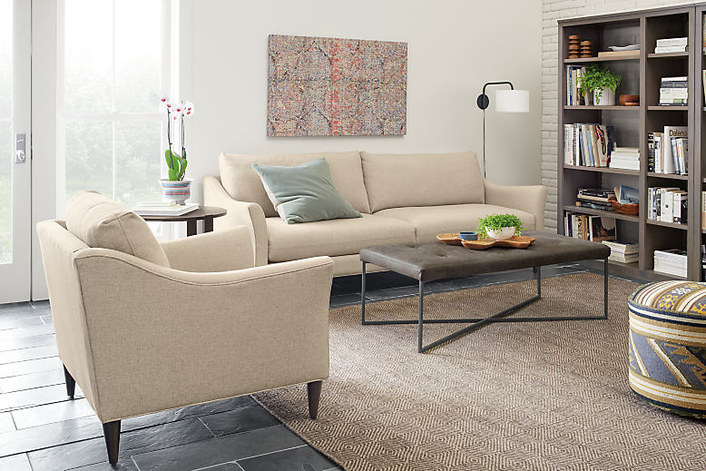 Detail of Merriam 90-inch sofa
