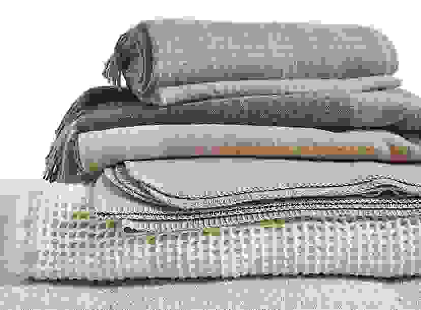 Throw Blanket Collections in Neutral Tones