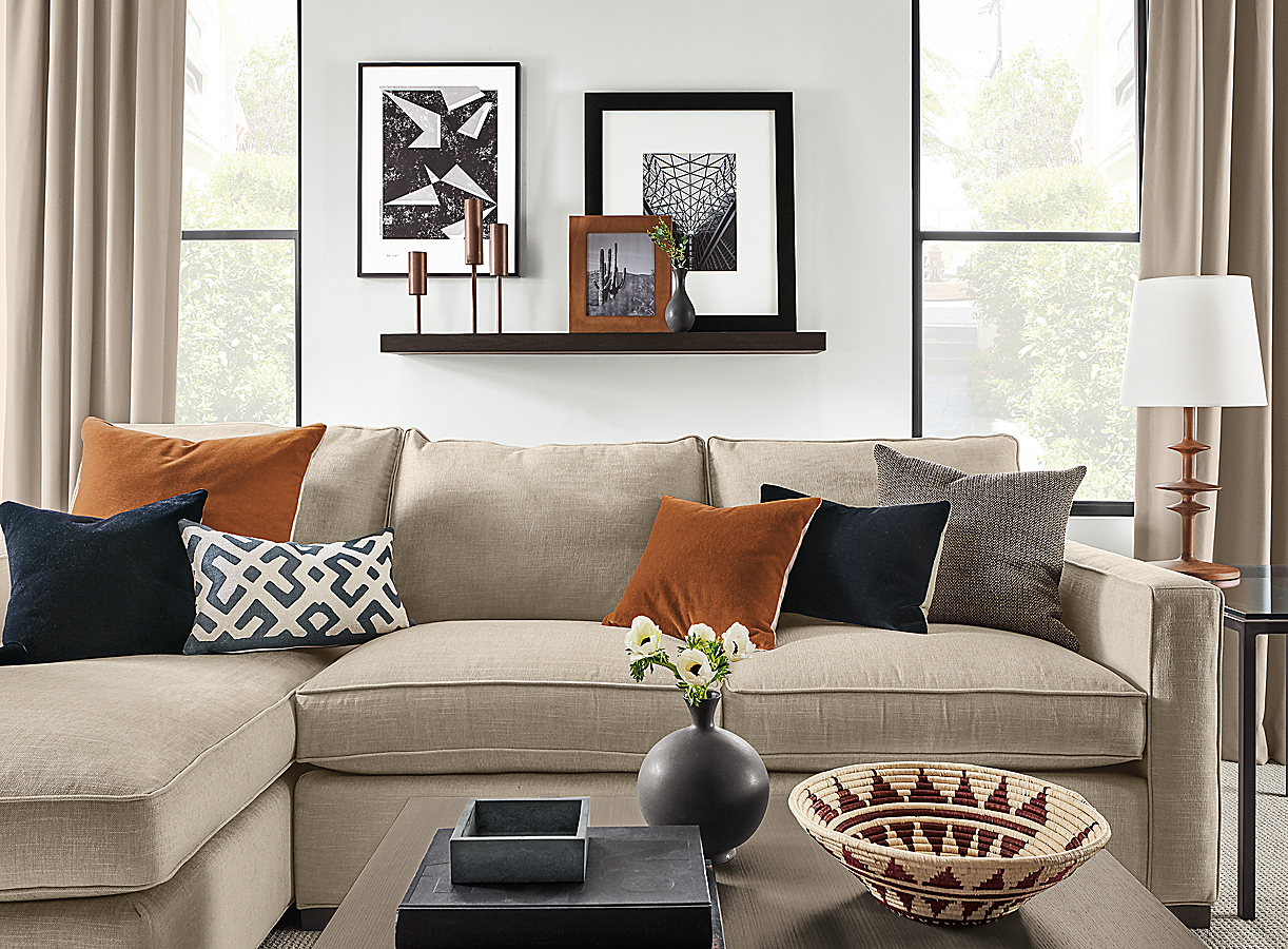 Float Wall Shelf in Charcoal with Wall Art