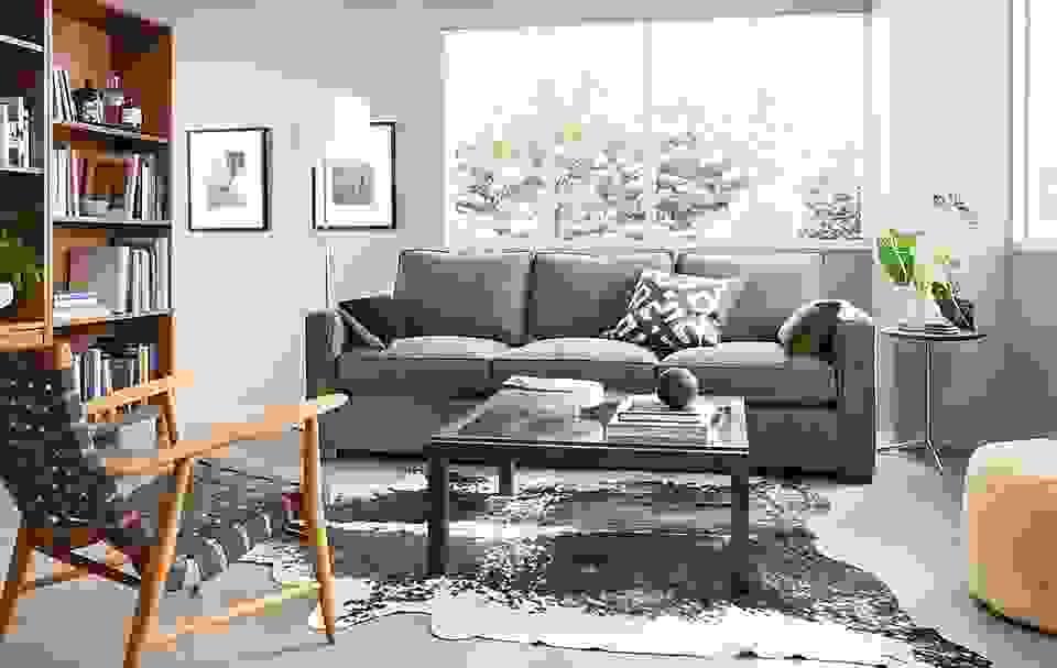 """Parsons Custom 2"""" Leg Coffee Table"""
