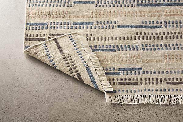 Close detail of Morse rug