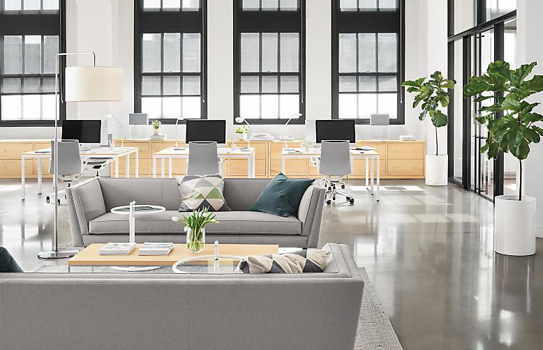 Detail of Naomi sofa in modern office