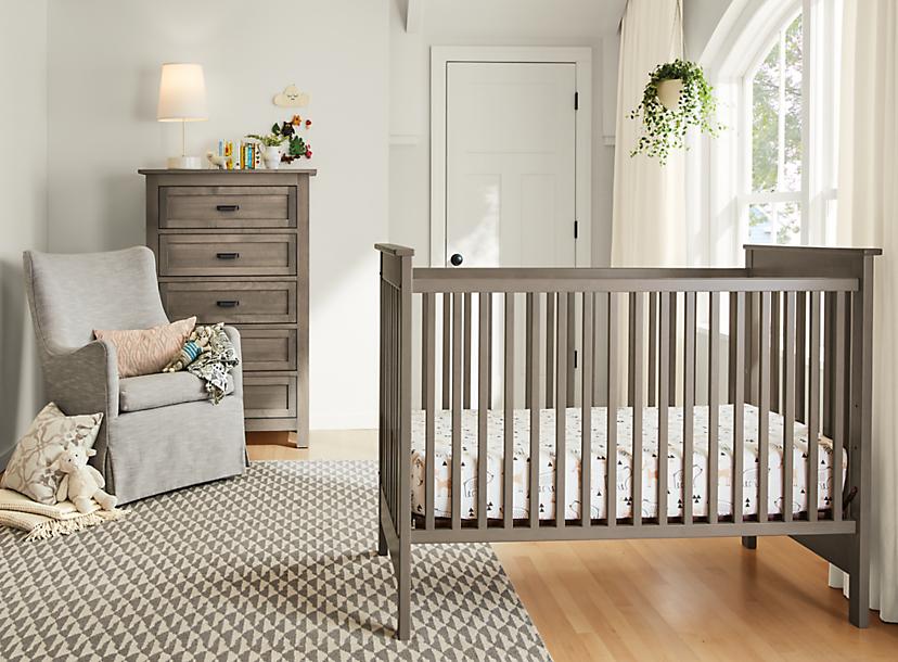 Nest Crib in Shell Finish