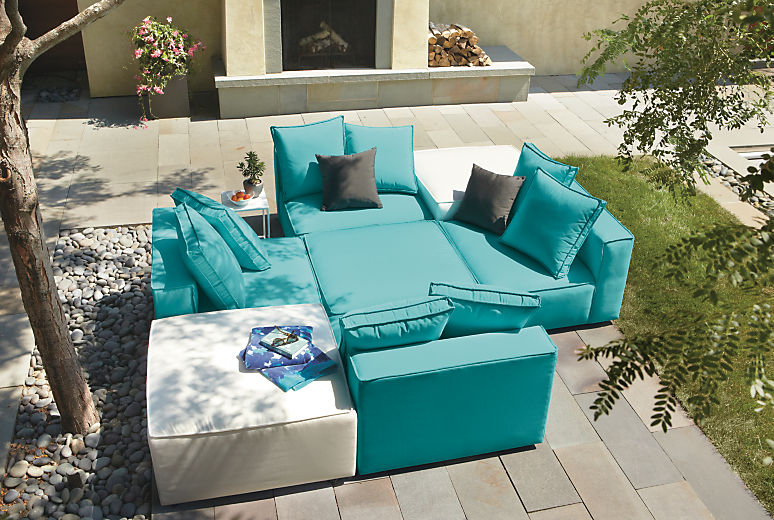 Detail of Oasis outdoor armless chairs