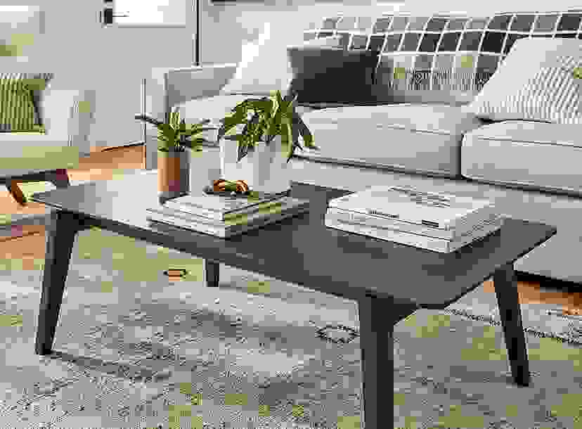 Orlin 48w 24d 16h Coffee Table in Charcoal