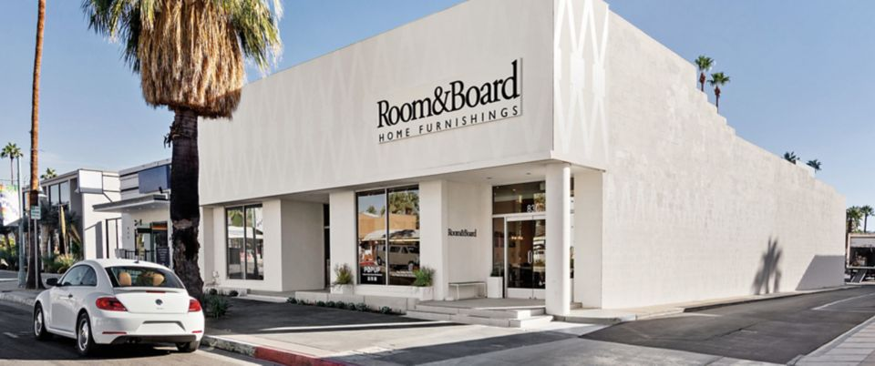 Room & Board Palm Springs is located in the heart of the Uptown Design District.