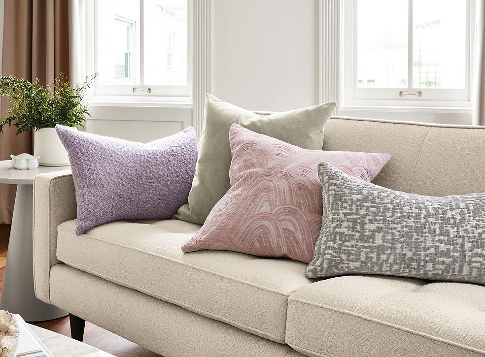Palmer, Velvet, Billow & Staccato Pillows