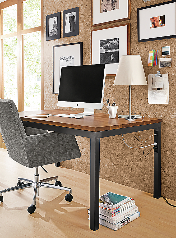 Parsons Desk with Power in Office