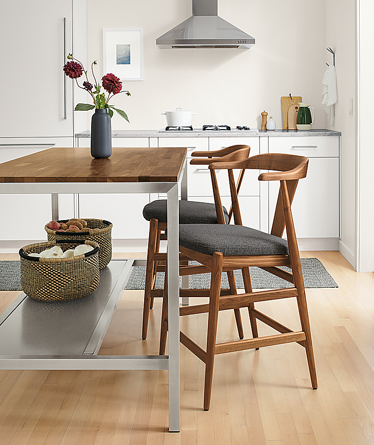 Parsons Narrow Counter Table with Evan Stools