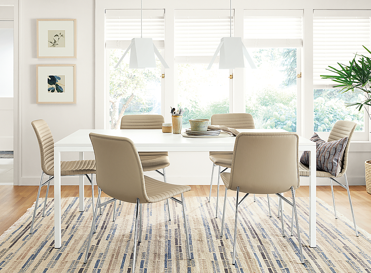 Scandanavian Dining Room with Parsons Table