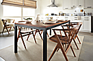 Parsons Table and Soren Chairs in Walnut
