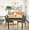 Parsons Table with Olsen Chairs in Declan Haze