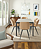 Parsons Table with Gwen Leather Chairs