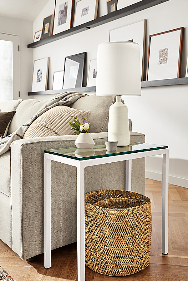 """Parsons 24w 12d 24h End Table with 1"""" Leg"""